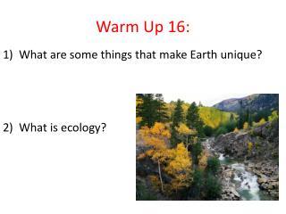 Warm Up 16: