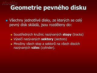 Geometrie pevného disku