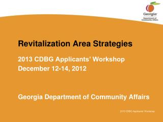Revitalization Area Strategies