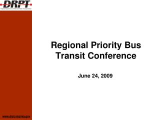 Regional Priority Bus Transit Conference