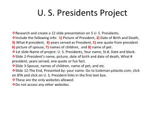 U. S. Presidents Project