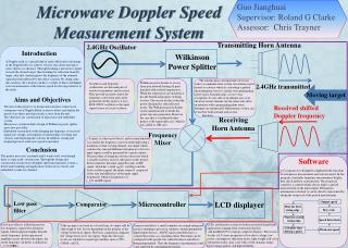 Microwave Doppler Speed   Measurement System