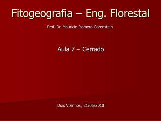 Fitogeografia – Eng. Florestal