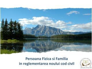 Persoana Fizica si Familia i n reglementarea noului cod civil
