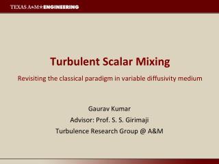Turbulent Scalar Mixing Revisiting the classical paradigm in variable diffusivity medium