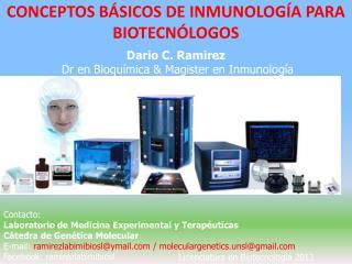 CONCEPTOS BÁSICOS DE INMUNOLOGÍA PARA BIOTECNÓLOGOS