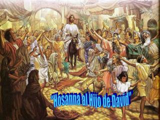 """""""Hosanna al Hijo de David"""""""
