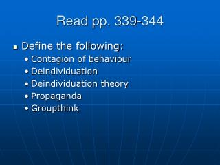 Read pp. 339-344