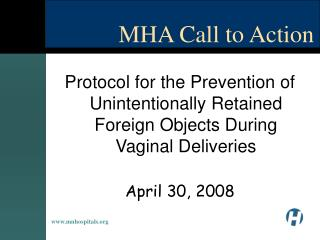 MHA Call to Action