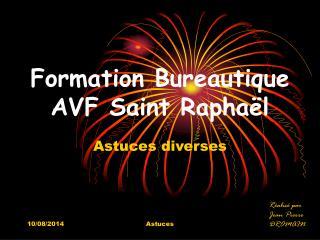 Formation Bureautique AVF Saint Raphaël