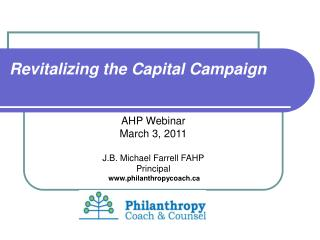 Revitalizing the Capital Campaign