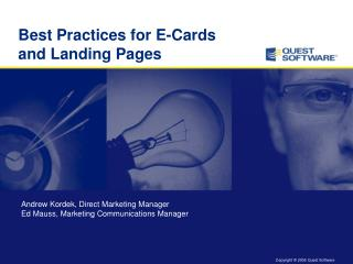 Best Practices for E-Cards and Landing Pages