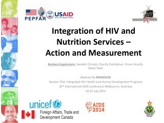 Integration of HIV and Nutrition Services –  Action and Measurement