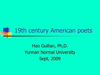 19th century American poets