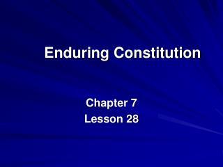 Enduring Constitution