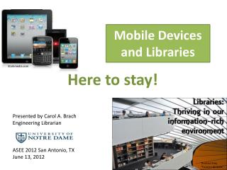 Mobile Devices and Libraries