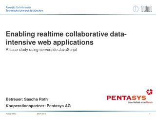 Enabling  realtime  collaborative data-intensive web applications