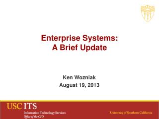 Enterprise Systems: A Brief Update
