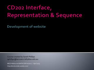CD202 Interface, Representation & Sequence Development of website