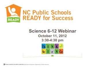 Science 6-12 Webinar  October 11, 2012 3:30-4:30 pm