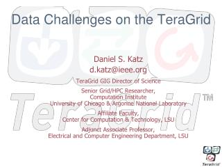 Data Challenges on the TeraGrid