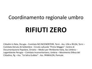 Coordinamento regionale umbro