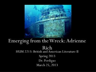 Emerging from the Wreck: Adrienne Rich