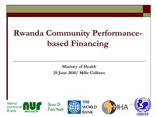 Rwanda Community Performance-based Financing