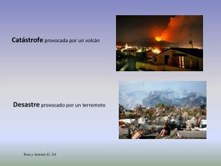 Catástrofe  provocada por un volcán