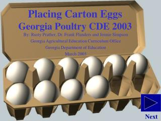 Placing Carton Eggs  Georgia Poultry CDE 2003