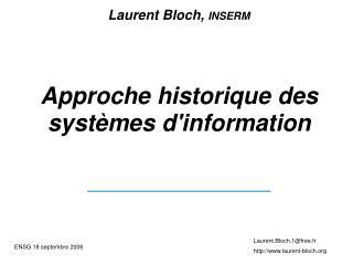 Approche historique des systèmes d'information