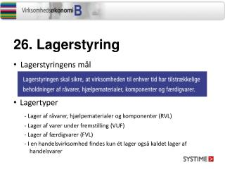 26.  Lagerstyring