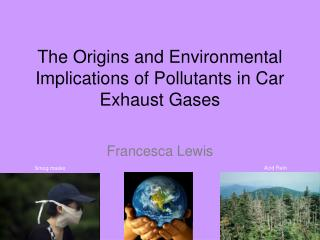 The Origins and Environmental Implications of Pollutants in Car Exhaust Gases