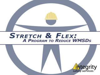 Work-Related Musculoskeletal Disorders, or WMSDs, are injuries to the muscles, tendons, nerves, and joints which occur o