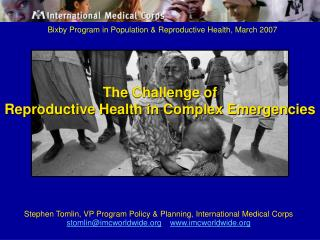 Bixby Program in Population & Reproductive Health, March 2007