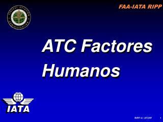 ATC Factores Humanos