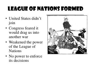 League of Nations Formed