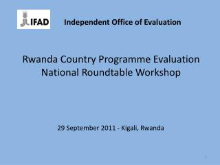 Rwanda Country Programme Evaluation National Roundtable Workshop