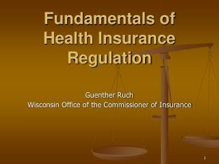 Fundamentals of Health Insurance Regulation