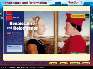 Reading Focus What changes in society and in cities stimulated the beginning of the Renaissance?