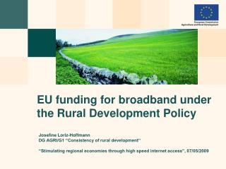 EU funding for broadband under the Rural Development Policy