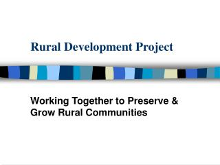 Rural Development Project