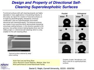 Design and Property of Directional Self-Cleaning  Superoleophobic  Surfaces