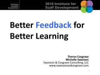 Better  Feedback  for Better  Learning