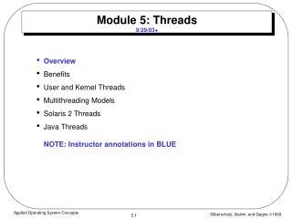 Module 5: Threads 9/29/03+