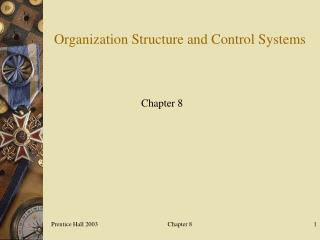 Organization Structure and Control Systems