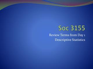 Soc 3155