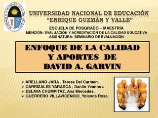 """UNIVERSIDAD NACIONAL DE EDUCACIÓN  """"ENRIQUE GUZMÁN Y VALLE"""""""