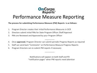 Performance Measure Reporting