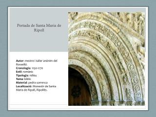 Portada de Santa Maria de Ripoll